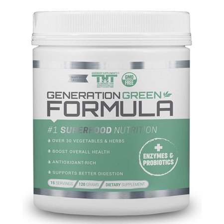 Generation Greens Powder | Best Organic Superfood Green Powder | 60 Powerful Super Foods (Spirulina,Chlorella,Wheat Grass), Probiotics, Enzymes |GMO (Best Foods For Bladder Health)