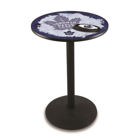 42 in. Toronto Maple Leafs Pub Table with 36 in. Top, Black