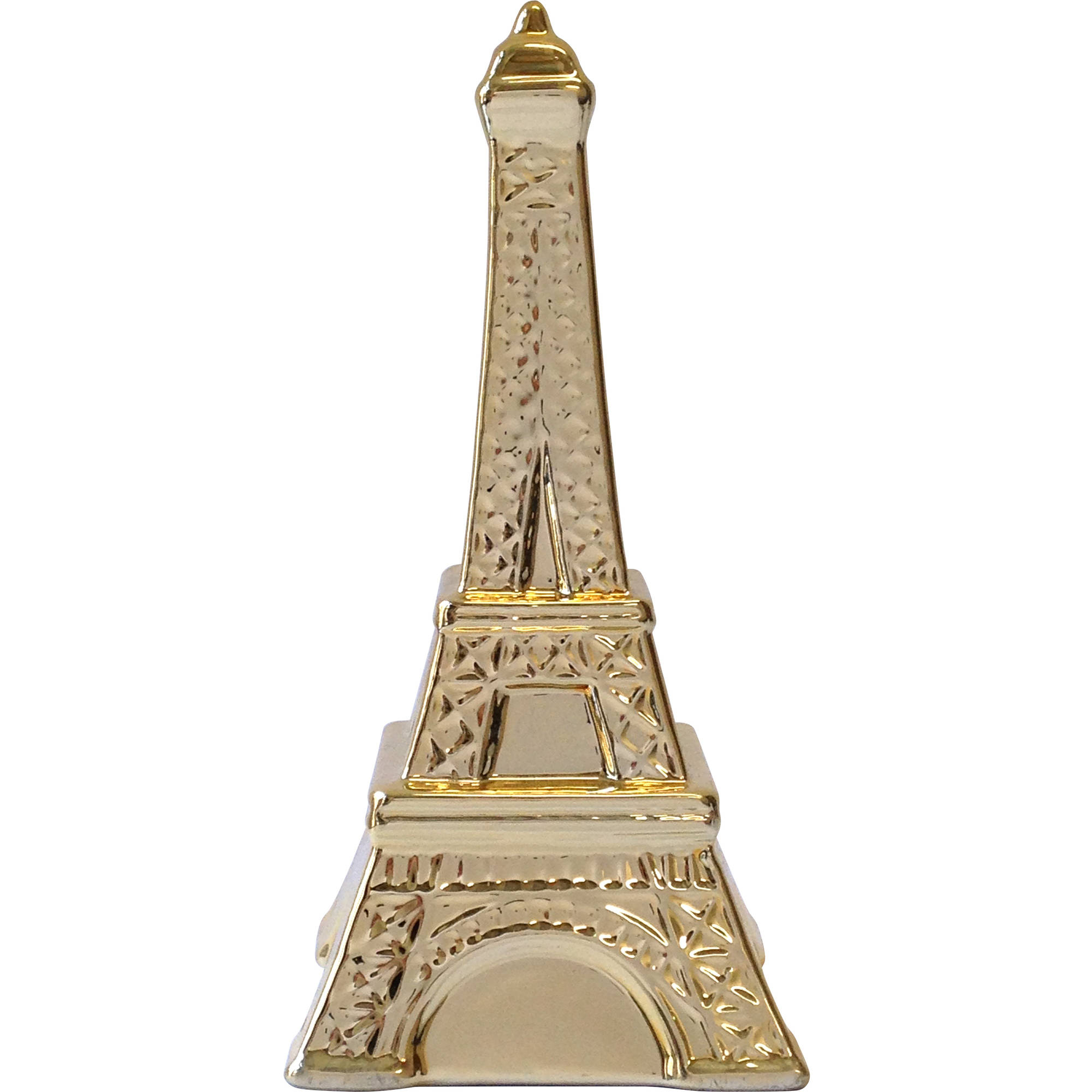 Tabletop Eiffel Tower Ceramic Figurine, Gold by Generic