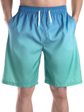 4d9a16daeb Product Image LELINTA Mens Swim Trunks Beach Board Shorts with Cargo  Pockets,Blue/ Black/ Grey