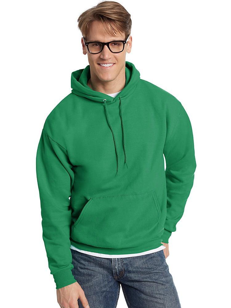 1 Kelly Hanes Mens EcoSmart Hooded Sweatshirt 2XL 1 Black