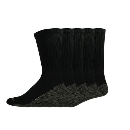 Genuine Dickies Men's Dri-Tech Comfort Crew Work Socks, 5-Pack