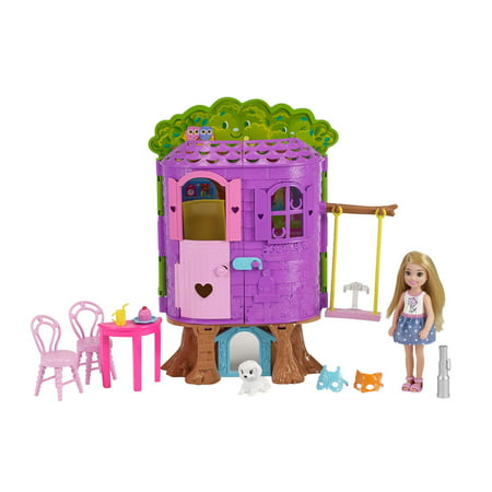 Barbie Club Chelsea Treehouse Dollhouse Playset with Accessories