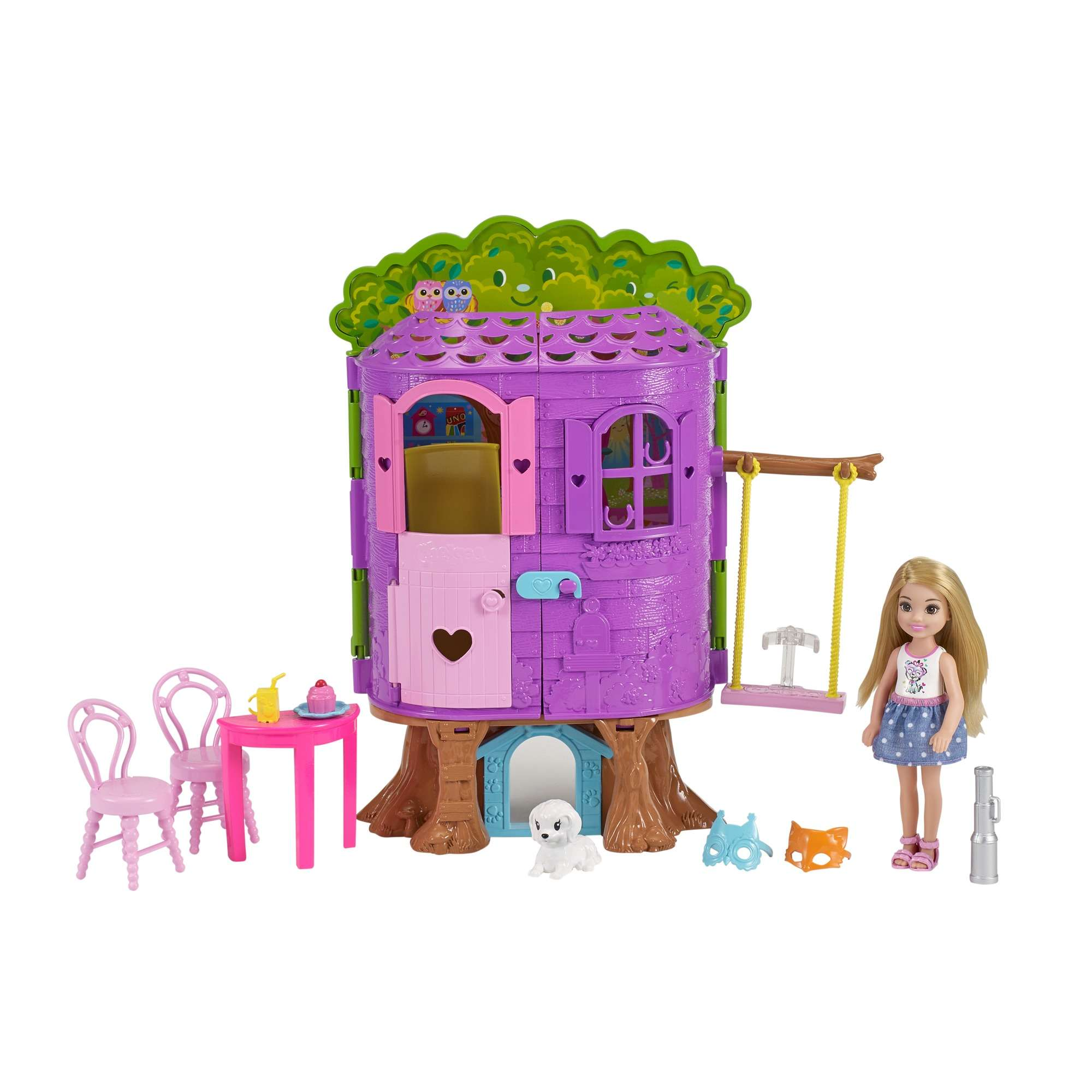 Barbie Chelsea Doll and Treehouse