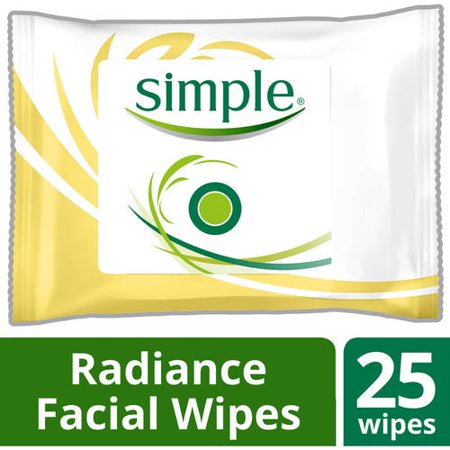 Simple Radiance Cleansing Facial Wipes  25 Ct