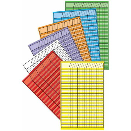Shapes Chart (Creative Shapes Etc Small Vertical Incentive Chart Set, 14 x 22 Inches, Assorted Color, Set of)