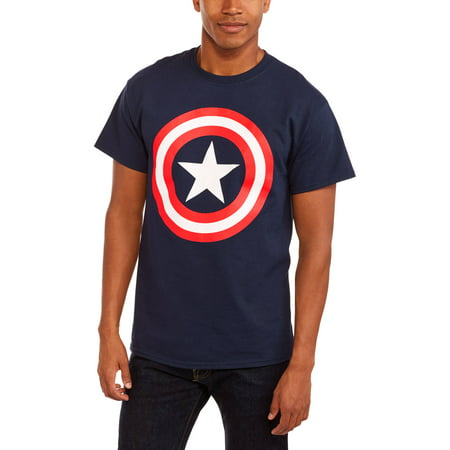 Marvel Captain America Big Mens Shield Logo Graphic Tee  2Xl