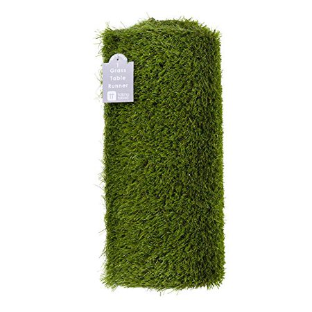Talking Tables Artificial Grass Table Runner for Game Day, Easter, Birthdays & Weddings, 4.9ft x 15.7in , Green - Grass Table Runner