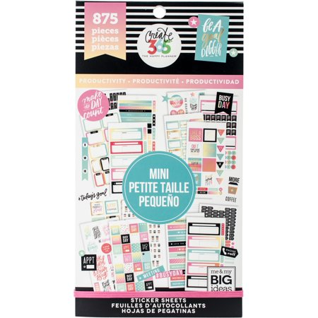 Happy Planner Sticker Value Pack-Productivity - Mini, 875/Pkg](Mini Stickers)