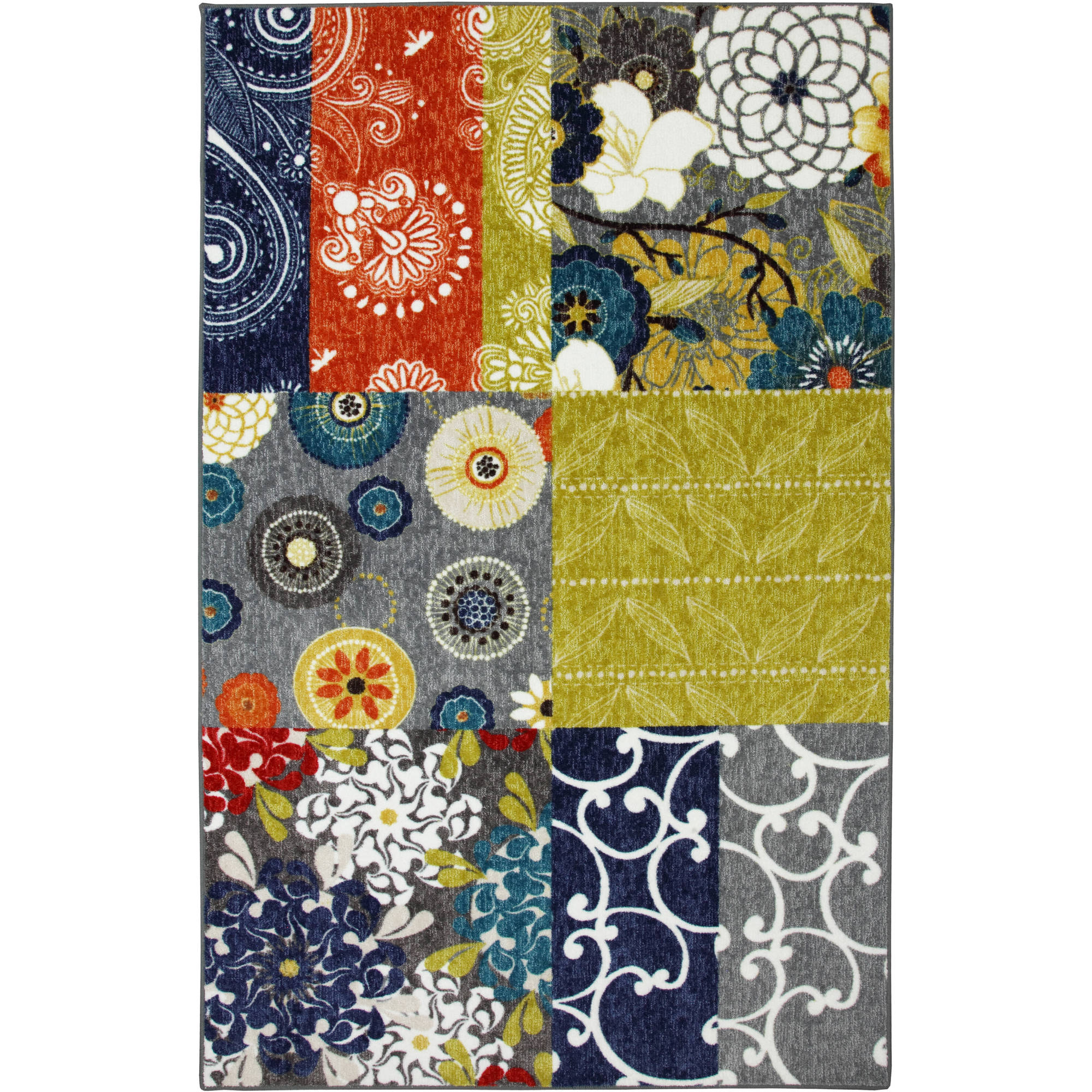 Mohawk Home Secret Garden Patch Nylon Rug, Multi-Colored