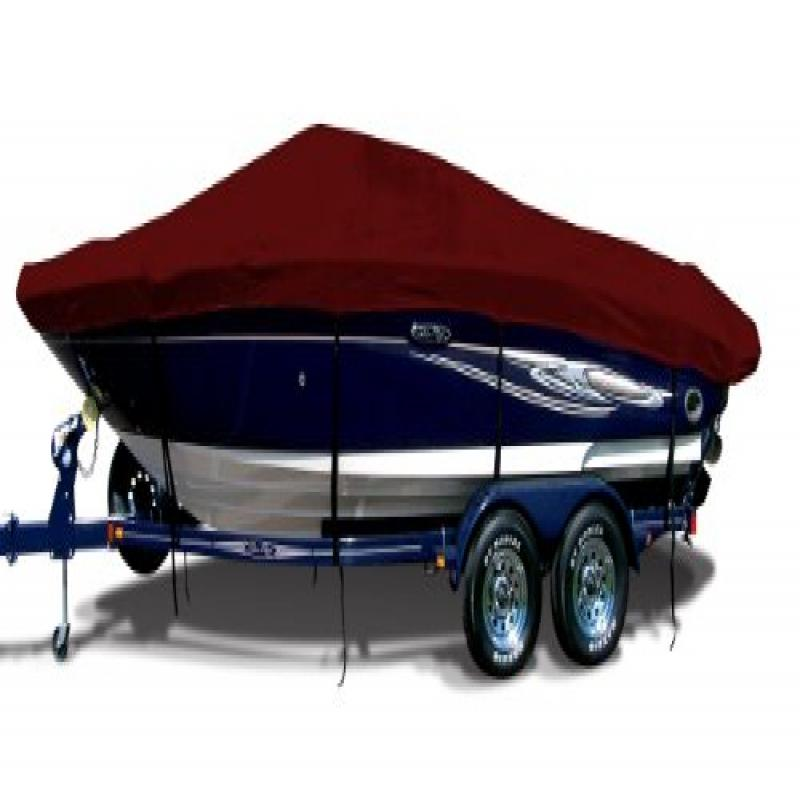 Burgundy Exact Fit Boat Cover Fitting 1989-1994 Javelin 396 Fs W port Troll Mtr O B Models, 9.25 oz. Sunbrella... by