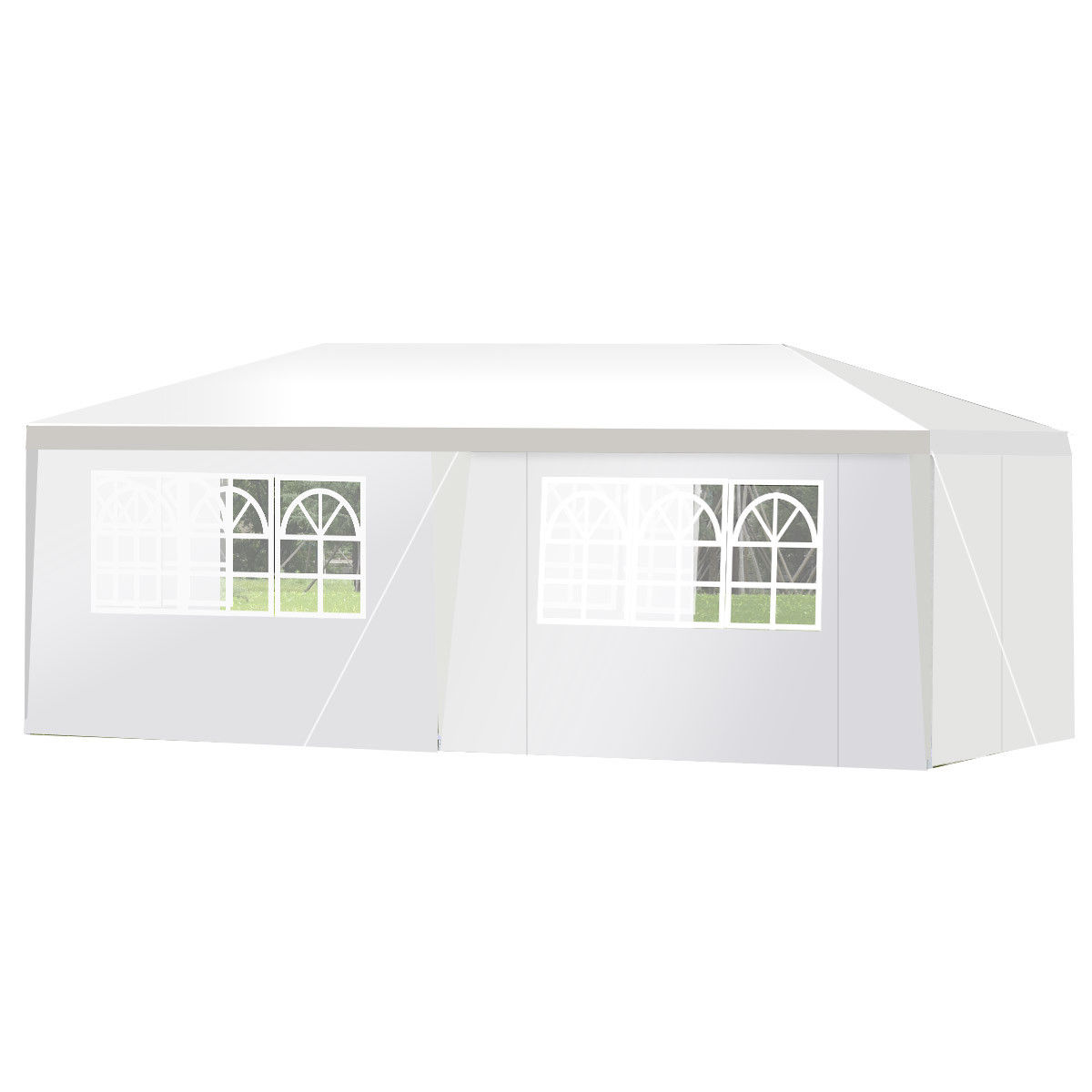 Wedding Tent Canopy Party 10'x20' Heavy Duty Gazebo Cater Event W/ Side Walls - image 4 of 10