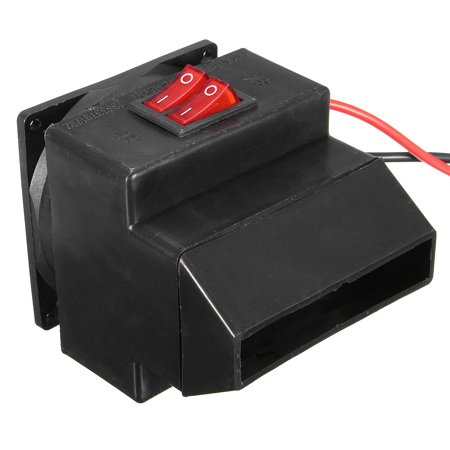 Adjustable 12v 300w 80℃ Dual Switchs Auto Car Mute Heating Fan Heater Windscreen Defroster Demister Color:black - image 3 of 12