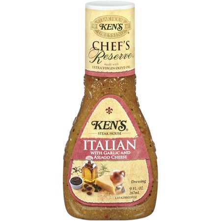 Kens Steak House Chefs Reserve Italian With Garlic And Asiago Cheese Dressing  9 Oz