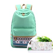 CoastaCloud Casual Style Lightweight Canvas Laptop Backpack Cute Travel School College Shoulder Bag for Teenage Girls/Students/Women-With Laptop Compartment with One Free Pen Bag