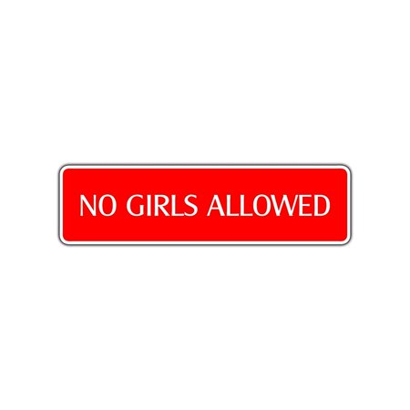 No Girls Allowed Novelty Street Sign Children Kid Room Boys Club Wall Gift Décor 4x13.5 (No Children Allowed Sign)