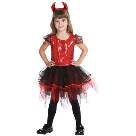 Sequin Red Devil Child Halloween Costume - Halloween Devil Costume Diy