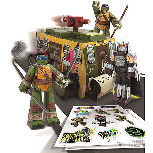 Nickelodeon Teenage Mutant Ninja Turtles Papercraft Vehicle Pack by Jazwares, Inc.