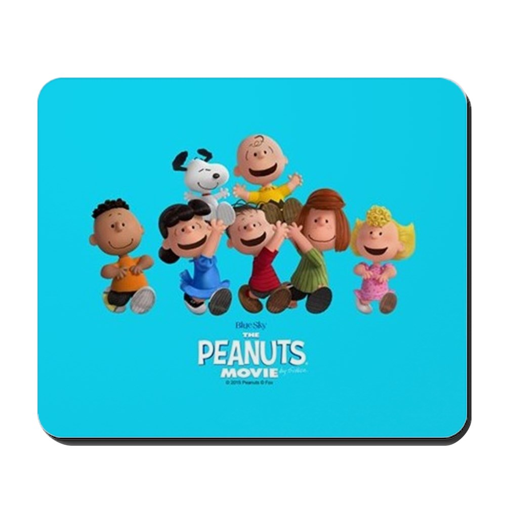 CafePress - Peanuts Gang Full Bleed - Non-slip Rubber Mousepad, Gaming Mouse Pad