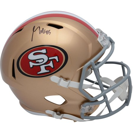 George Kittle San Francisco 49ers Autographed Riddell Speed Replica Helmet - Fanatics Authentic Certified