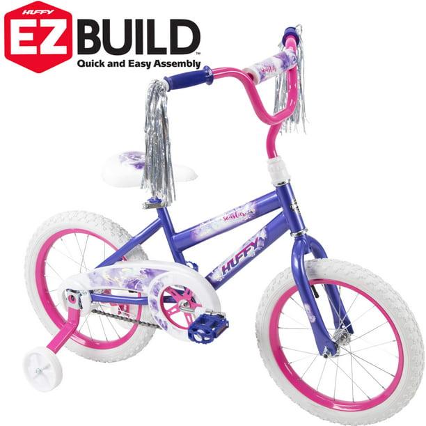 "Single-speed in Metallic Purple Huffy 16/"" Sea Star Girl/'s Bike Training Wheels"