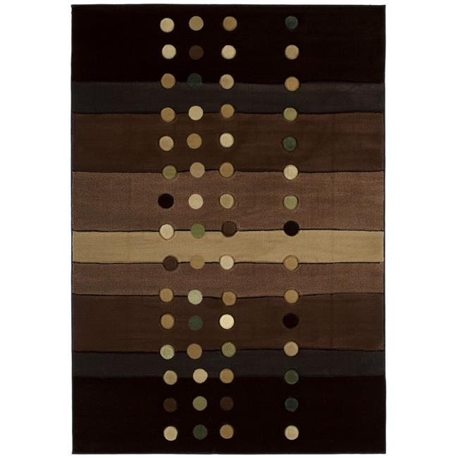 United Weavers 510 21451 69 5 ft. 3 in. x 7 ft. 6 in. Contours Cascades Area Rug, Chocolate - image 1 of 1