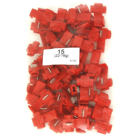 DNF 100 Pack 100% Copper Red Quick Splice Wire Connectors 22-18 Gauge(Pack of 100)