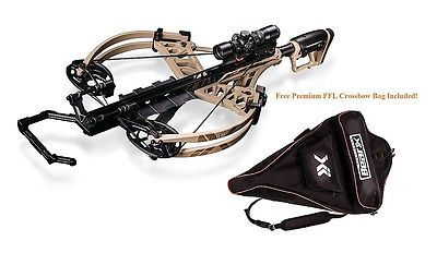 New 2016 Bear X Fisix FFL Crossbow Illuminated Scope Package Sand w  Case Hunting Sports by