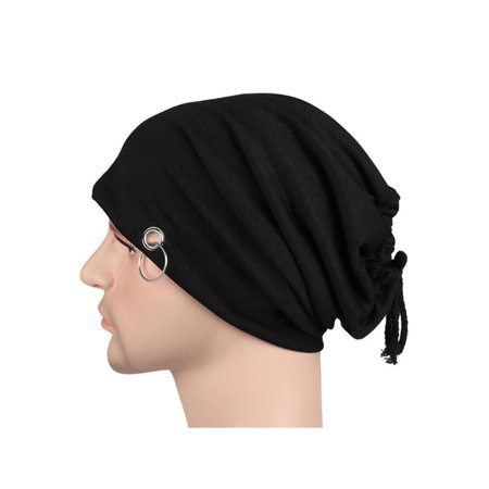 Mens Womens Winter Hat Ring Lacing Beanie Baggy Thin Light Hip-Hop Cap Slouchy ()