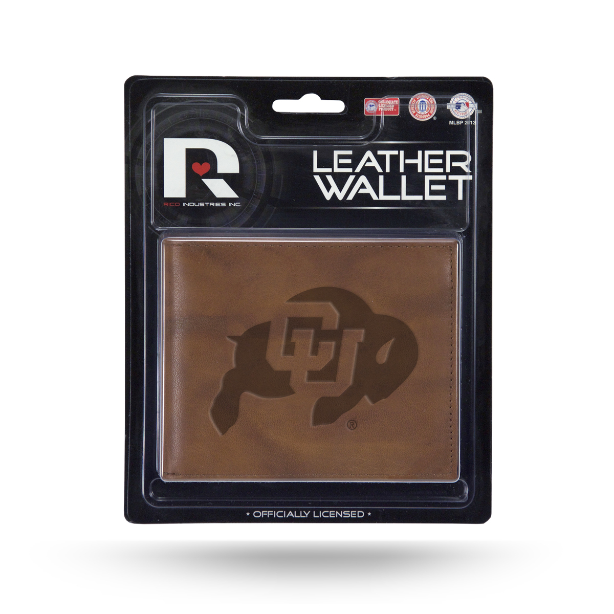 Colorado Buffaloes NCAA Embossed Brown Leather Billfold Wallet