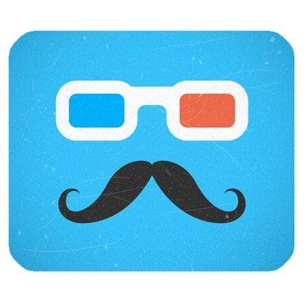 MKHERT Colorful Sunglasses and Funny Mustache Rectangle Mousepad Mat For Mouse Mice Size 9.84x7.87 inches](Funny Sunglasses)