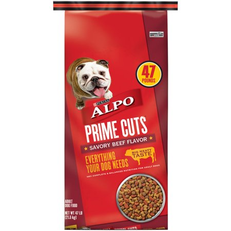 - ALPO Prime Cuts Savory Beef Flavor Dry Dog Food, 47 Lb.