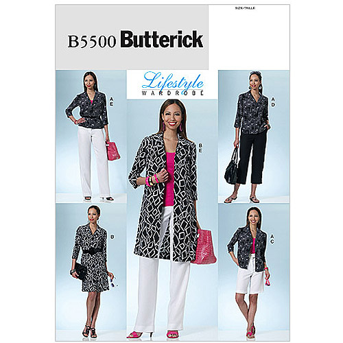 Butterick Pattern Misses' and Misses' Petite Shirt, Dress, Shorts and Pants, AA (6, 8, 10, 12)