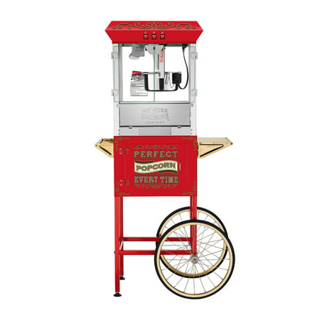 Great Northern Popcorn Perfect Popper Popcorn Machine w/ Cart (10 oz, Red) ()