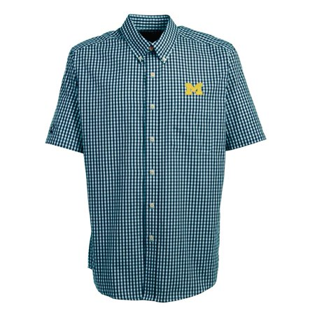 University of michigan wolverines short sleeve button down for College button down shirts