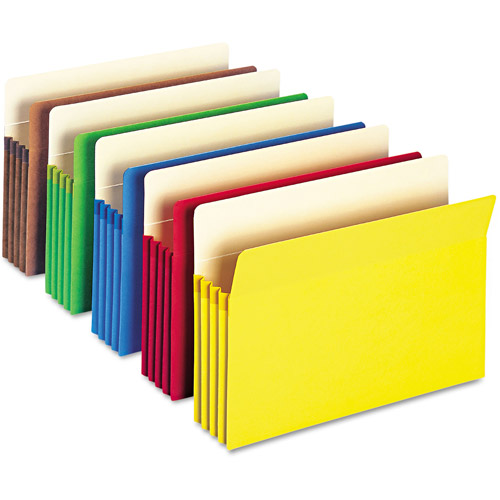 Smead 3 1/2'' Expansion Colored File Pocket, Straight Tab