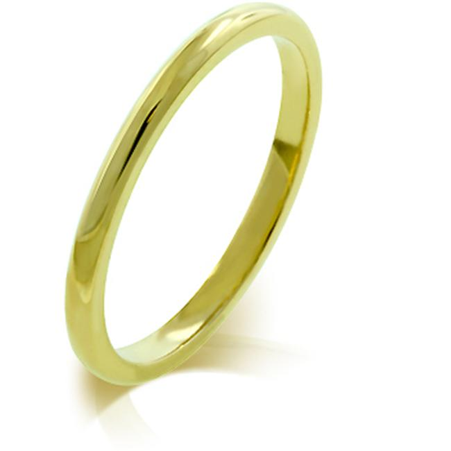 Kate Bissett R08037GV-V00-10 2mm IPG Gold Plated Stainless Steel Wedding Band