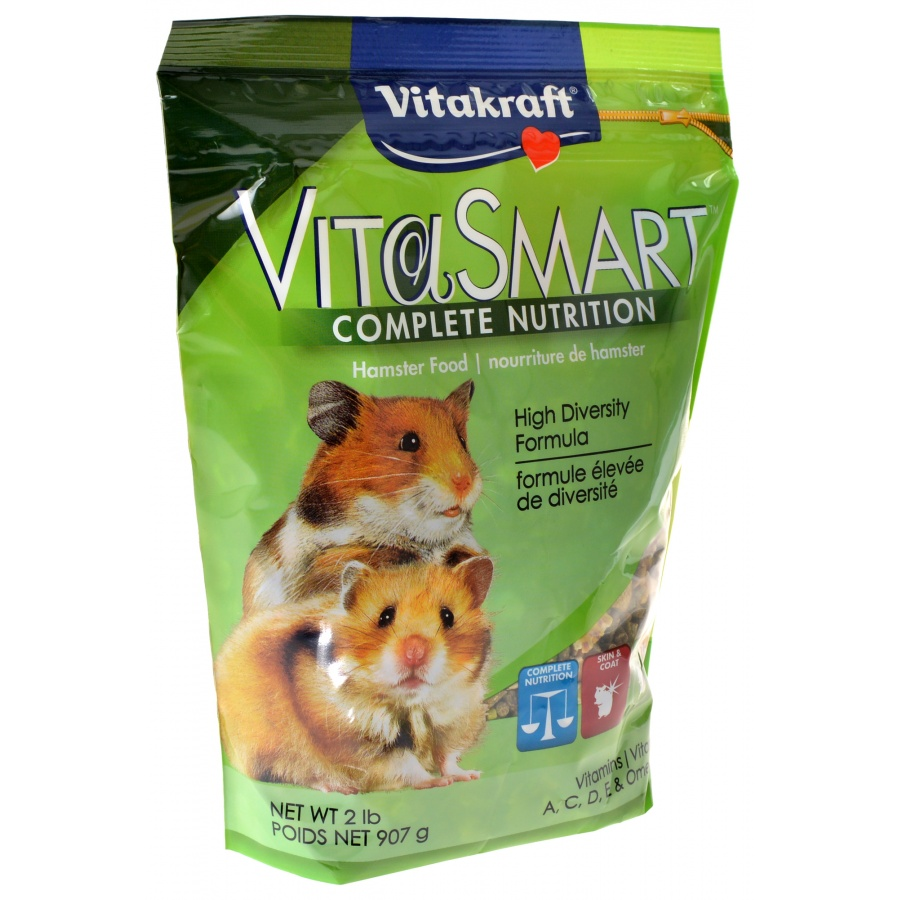 Vitakraft VitaSmart Complete Nutrition Hamster Food 2 lbs Pack of 4 by