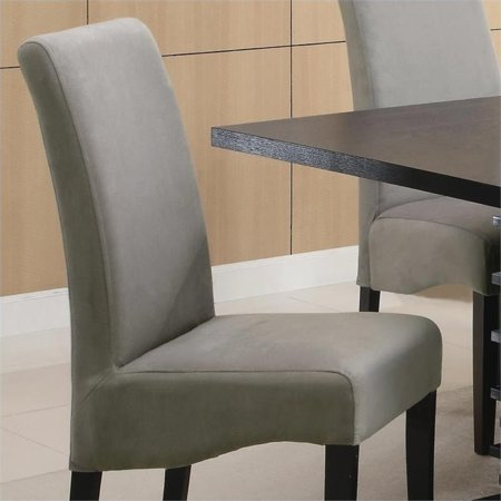 Bowery Hill Rich Black Dining Chair in Gray - image 2 de 3