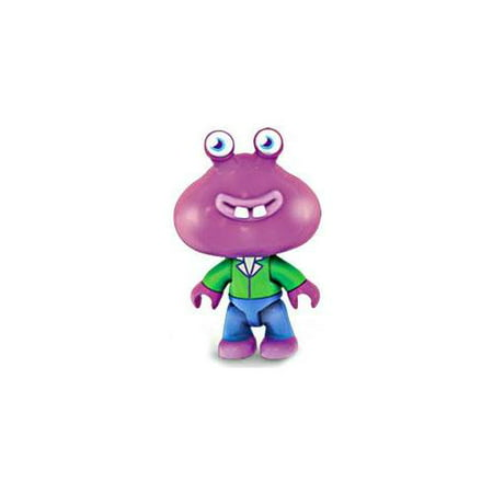 Mega Bloks Moshi Monsters Series 1 Purple Guy with Green Shirt (Purple Magna)
