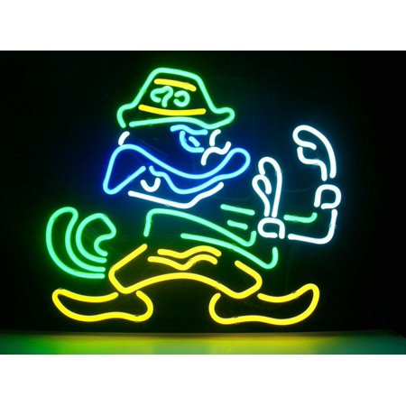 Deliver Neon Sign - Desung Brand New Notre Dame Fighting Irish Neon Sign Lamp Glass Beer Bar Pub Man Cave Sports Store Shop Wall Decor Neon Light 17