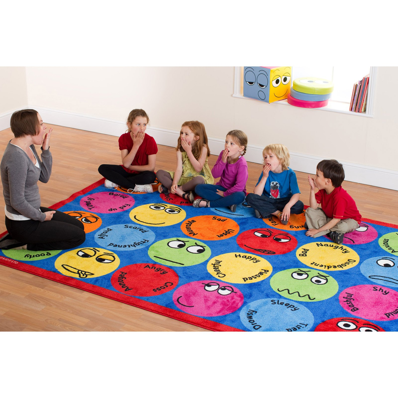 Kalokids Emotions Interactive Rectangular Carpet