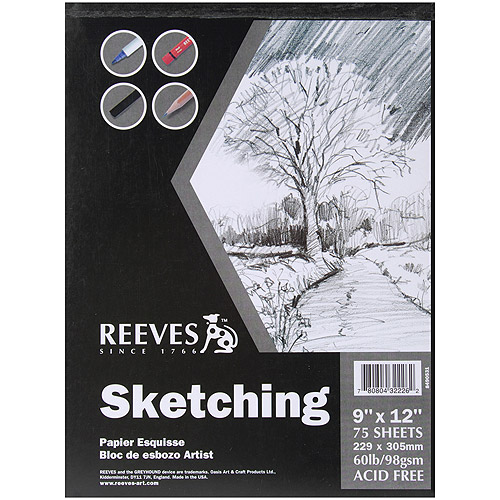 Reeves Sketch Book, 75 Sheets, 60 lb