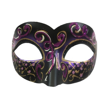 Adult's Carnival Hot Pink Glitter Venetian Festival Eye Mask Costume Accessory (Ideas For Carnival Costumes)
