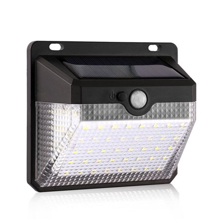 60 Lcd Wall - TOPCHANCES Waterproof 60 LED Solar Light Motion Sensor Wall Light 270° Super Bright (1/2 Pack)