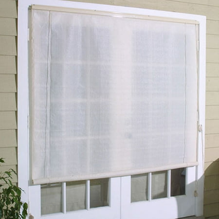 8 39 X 6 39 Roll Up Exterior Window Shades Off White