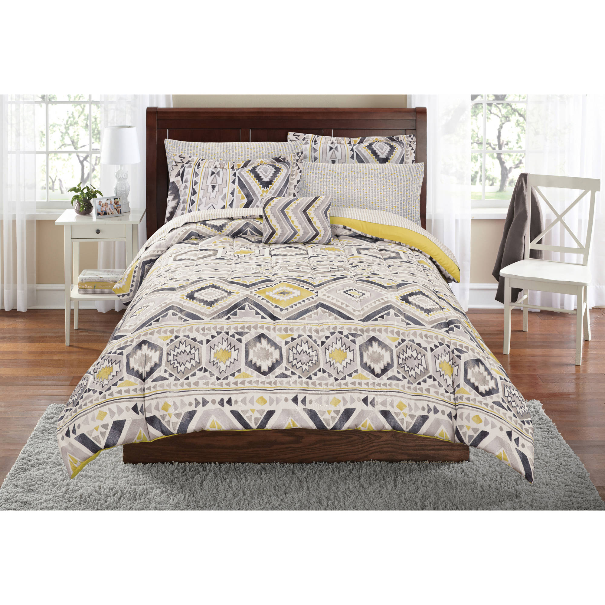 Mainstays Tribal Bed in a Bag Complete Bedding Set