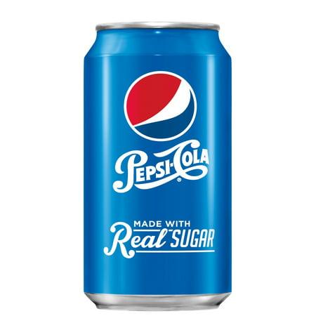 Pepsi Real Sugar, 12 oz Cans, 18 Count - Coca Cola X Pepsi Halloween