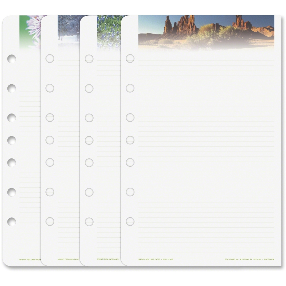 Day-Timer Serenity Note Pads Planner Refill Pages - Walmart.Com