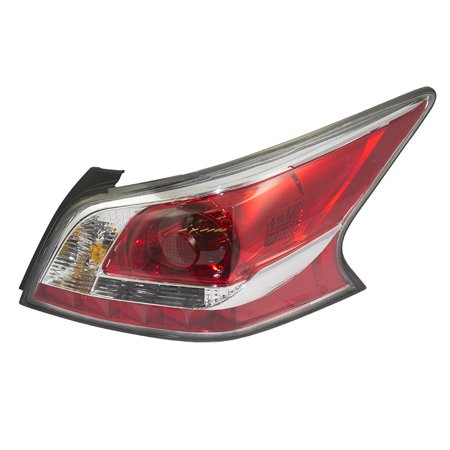 Passengers Taillight Tail Lamp Lens with Grey Edge Trim Standard Type Replacement for Nissan (Light Replacement Lens Standard)